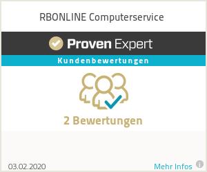 Erfahrungen & Bewertungen zu RBONLINE Computerservice