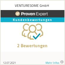 Erfahrungen & Bewertungen zu VENTURESOME GmbH
