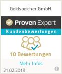 Erfahrungen & Bewertungen zu Geldspeicher GmbH