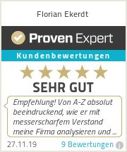 Erfahrungen & Bewertungen zu Florian Ekerdt