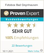 Erfahrungen & Bewertungen zu Fotobox Bad Oeynhausen