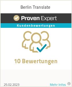 Erfahrungen & Bewertungen zu Berlin Translate