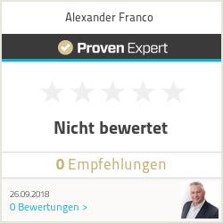 Erfahrungen & Bewertungen zu Alexander Franco