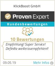 Erfahrungen & Bewertungen zu KlickBoost Gbr