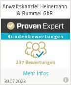 Erfahrungen & Bewertungen zu Anwaltskanzlei Heinemann