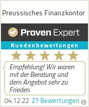 Erfahrungen & Bewertungen zu Preussisches Finanzkontor