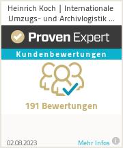 Erfahrungen & Bewertungen zu Heinrich Koch | Internationale Umzugs- und Archivlogistik GmbH
