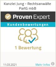 Erfahrungen & Bewertungen zu Kanzlei Jung - Rechtsanwälte PartG mbB
