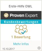 Erfahrungen & Bewertungen zu Erste-Hilfe OWL