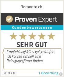 Erfahrungen & Bewertungen zu Remonto.ch