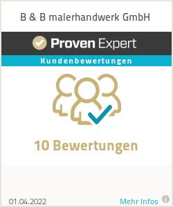 Erfahrungen & Bewertungen zu B & B malerhandwerk GmbH
