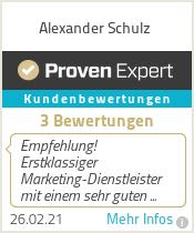 Erfahrungen & Bewertungen zu Alexander Schulz