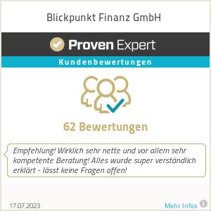 Erfahrungen & Bewertungen zu Blickpunkt Finanz GmbH
