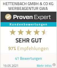 Erfahrungen & Bewertungen zu HETTENBACH GMBH & CO KG WERBEAGENTUR GWA