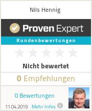 Erfahrungen & Bewertungen zu Nils Hennig