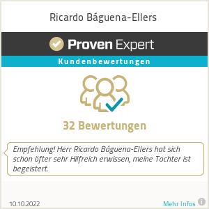Erfahrungen & Bewertungen zu Ricardo Báguena-Ellers