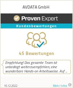 Erfahrungen & Bewertungen zu AVDATA GmbH