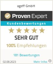 Erfahrungen & Bewertungen zu ageff GmbH