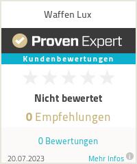 Erfahrungen & Bewertungen zu Waffen Lux