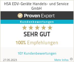 Erfahrungen & Bewertungen zu HSA EDV-Geräte Handels- und Service GmbH