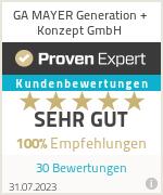 Erfahrungen & Bewertungen zu GA MAYER Generation + Konzept GmbH