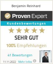 Erfahrungen & Bewertungen zu Benjamin Reinhard