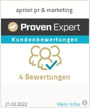 Erfahrungen & Bewertungen zu apriori pr & marketing