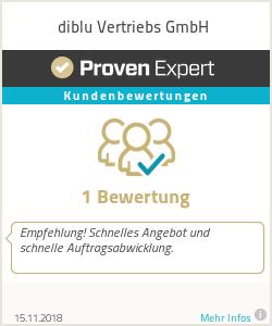 Erfahrungen & Bewertungen zu diblu Vertriebs GmbH