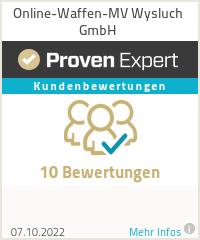 Erfahrungen & Bewertungen zu Online-Waffen-MV Wysluch GmbH
