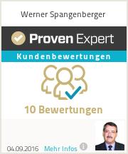 Erfahrungen & Bewertungen zu Werner Spangenberger
