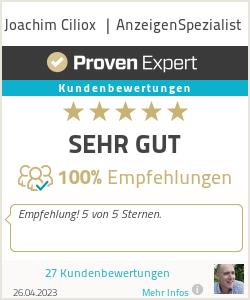 Erfahrungen & Bewertungen zu Joachim Ciliox  | AnzeigenSpezialist