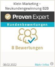 Erfahrungen & Bewertungen zu Klein Marketing - Neukundengewinnung B2B
