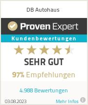 Erfahrungen & Bewertungen zu DB Autohaus