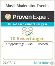 Erfahrungen & Bewertungen zu Musik Moderation Events