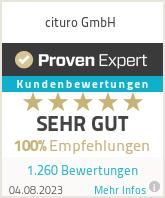 4.97 von 5 (293 Bewertungen) auf ProvenExpert.com