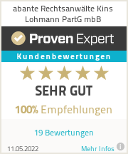 Erfahrungen & Bewertungen zu abante Rechtsanwälte Kins Lohmann Stenzel PartG mbB