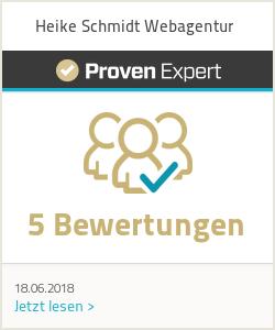 Erfahrungen & Bewertungen zu Heike Schmidt Webagentur