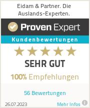 Erfahrungen & Bewertungen zu Eidam & Partner. Die Auslands-Experten.