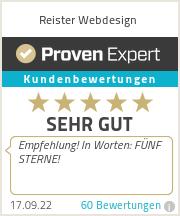 Erfahrungen & Bewertungen zu Reister Webdesign GmbH