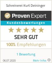 Erfahrungen & Bewertungen zu Schreinerei Kurt Deininger