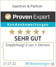 Erfahrungen & Bewertungen zu Gaertner & Partner