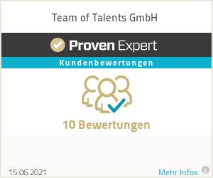 Erfahrungen & Bewertungen zu Team of Talents GmbH