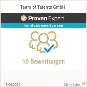 Kundenbewertungen & Erfahrungen zu Team of Talents GmbH.