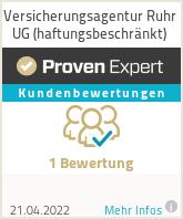 Erfahrungen & Bewertungen zu Versicherungsagentur Ruhr UG (haftungsbeschränkt)