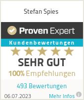 Erfahrungen & Bewertungen zu Stefan Spies