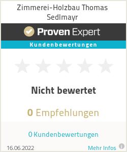 Erfahrungen & Bewertungen zu Zimmerei-Holzbau Thomas Sedlmayr