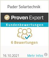 Erfahrungen & Bewertungen zu Pader Solartechnik