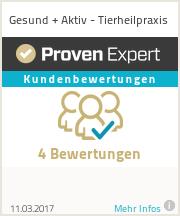 Erfahrungen & Bewertungen zu Gesund + Aktiv - Tierheilpraxis