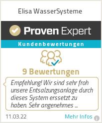 Erfahrungen & Bewertungen zu Elisa WasserSysteme