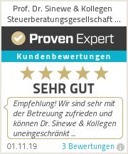 Erfahrungen & Bewertungen zu Prof. Dr. Sinewe & Kollegen Steuerberatungsgesellschaft mbH
